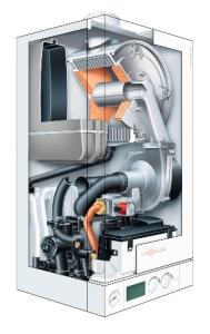 przekrój - piec gazowy Viessmann Vitodens 100-W 19kW