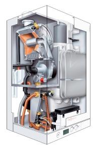 przekrój - piec gazowy marki Viessmann Vitodens 111-W 19kW